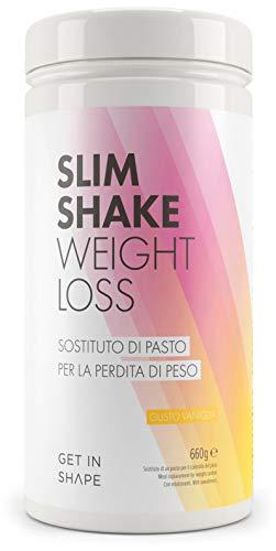 Slim shake sostituto pasto dimagrante - polvere per shake dimagranti al gusto vaniglia da get in shape