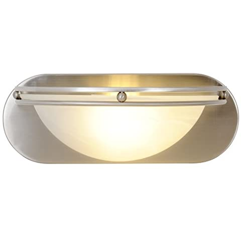 Monument 617606 Contemporary Vanity Fixture, Brushed Nickel, 12 In. by Monument
