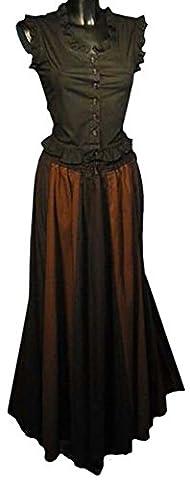Imex-Moden Women's Bubble hem Skirt Black Black / brown