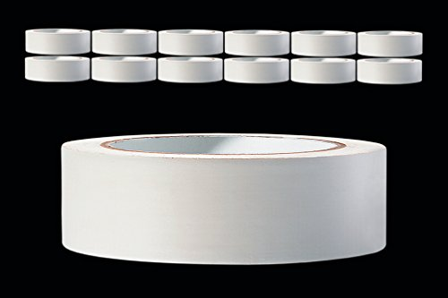 12 x PVC Schutzband glatt 30 mm PROFI Putzband 33 m weiss Putzerband Bautenschutzband Putzer Klebeband Putz Abdeckband