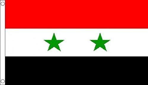 Flagge von Syrien, 100% Polyester, 150x 90cm, ideal für Kneipen, Clubs, Schule, Festival, Büro, Party-Dekoration