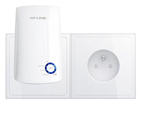 TP-Link Répéteur 300 Mbps Wi-Fi N, 1 Port Ethernet, Compatibilité Universelle, Installation Facile, Version Française (TL-WA850RE) (Wi-Fi N300) - Blanc
