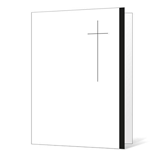 10 x Danksagung Trauerkarten schlichtes Kreuz Klappkarten im Set mit passenden Umschlägen - Trauerdanksagungskarten - Danke sagen nach Trauer, Beerdigung, Sterbefall, Friedhof, Begräbnis