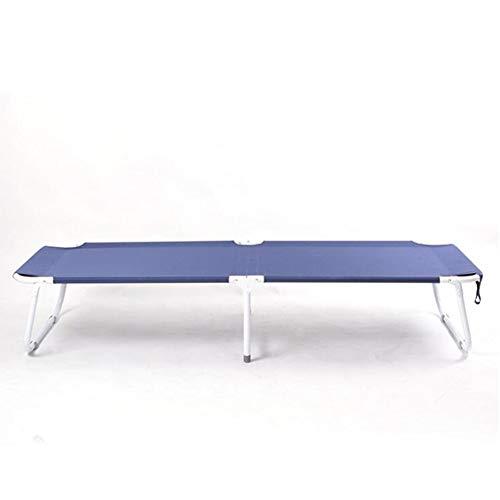 Wdj Le Nouveau Pliant lit Simple Adulte lit Sieste Bureau inclinable Simple lit Pliant Camping lit,Blue