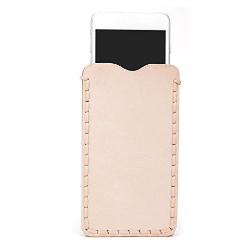 Kroo Étui ultra fin en cuir véritable pour téléphone portable Apple iPhone 6Plus Marron - peau Marron - peau