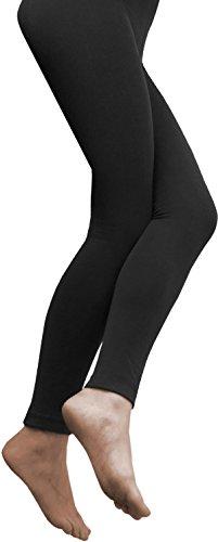 normani 3 x Sehr warme Damen Thermo Leggings mit Innenfleece Farbe Schwarz Größe 48/50