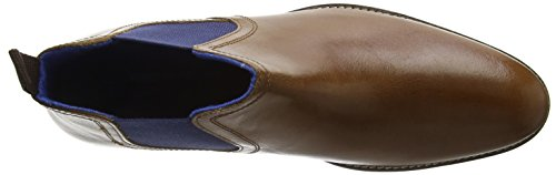 Red Tape Stockwood, Bottes Chelsea homme Brown (Tan Leather / Blue)