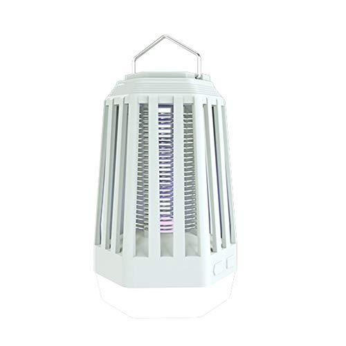 QAQ Tragbare Mückenlampe, UV 390-410nm Physikalische Mückenbekämpfung USB-Aufladung Eingebaute 2000mAh Polymerbatterie Geeignet Für Indoor Outdoor Camping,White,17 * 9.4cm - 390 Usb