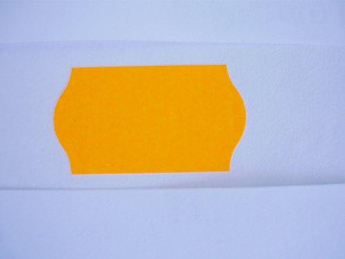 9 rollo borde onda 26x16mm etiqueta premio - naranja
