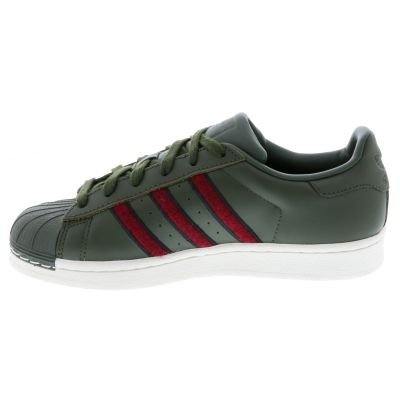 adidas Superstar, Sneaker Uomo Verde (Night Cargo F15/Red-Sld/Core Black)
