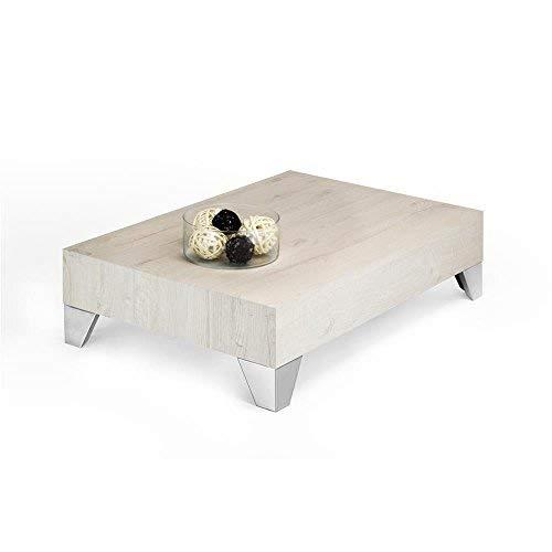 Mobili Fiver, Evolution 90 Table de Salon en Mélaminé Finition chêne Couleur crème, 90 x 60 x 24 cm