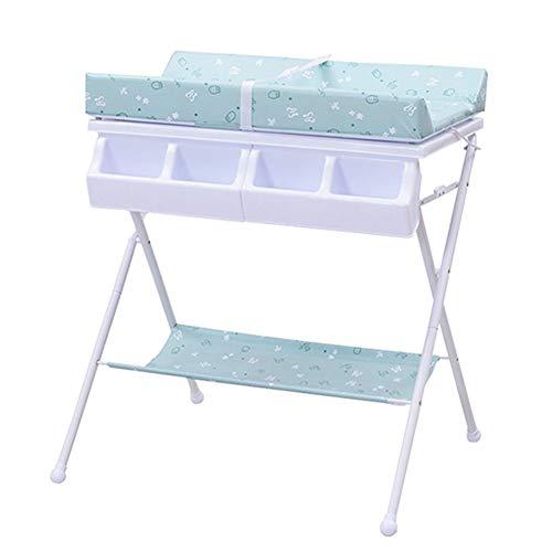 Tables à langer Table à langer pour bébé, Commode de base d'unité de rangement pour salle de bain pour bébé, style de jambe pliable
