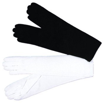 WMU 562167 1 Size Black Nylon Gloves Ladies for Halloween Products by WMU