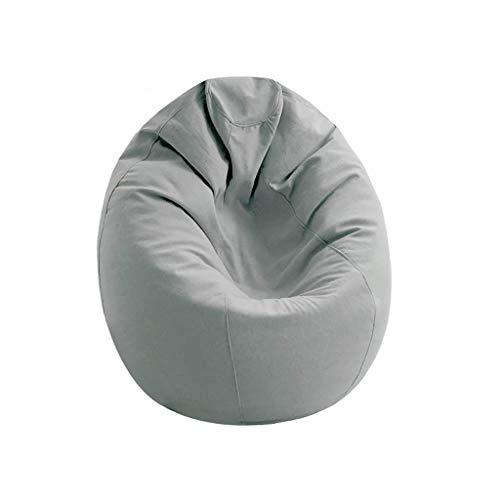 YXNN Large Bean Bag Chair - Indoor Outdoor Lazy Couch Spiel Für Erwachsene Freizeit Lounge Chair Soft Designer Chair Mat Abbaubare EPS-Füllung 120x120cm (Farbe : Gray) (Modernen Osmanischen Outdoor-der)