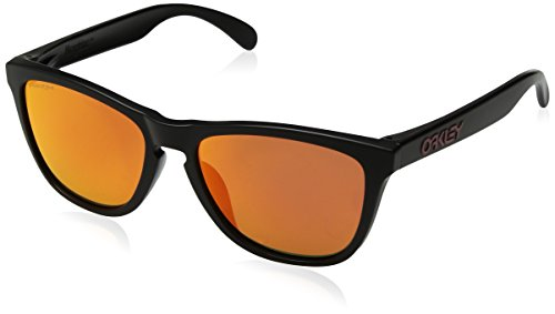 Oakley Men's Frogskins (a) Non-Polarized Iridium Rectangular Sunglasses, Matte Black, 54.02 mm