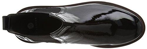 Hudson London Damen Wistow Patent Kurzschaft Stiefel Schwarz (Schwarz)