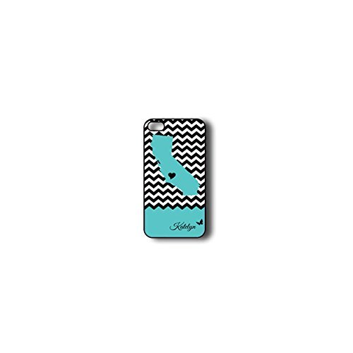 Krezy Case Monogram iPhone 6 Case, Colorful chevron with california map Pattern Monogram iPhone 6 Case, Monogram iPhone 6 Case, iPhone 6 Case Cover