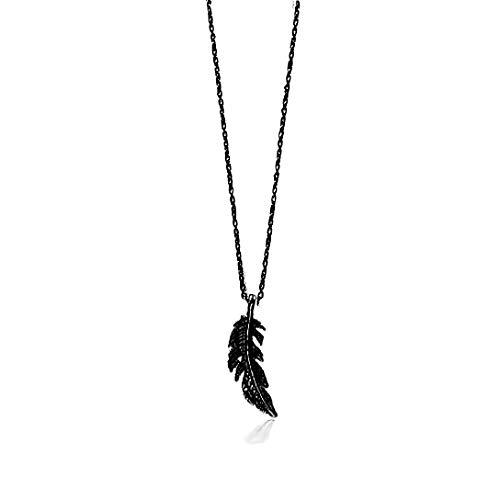 Engelsflügel Kette Schutzengel Flügel ohne Zirkonia Strass Lange Kette 70 cm mit Anhänger Set Halsketten für Damen Akki Schwarz