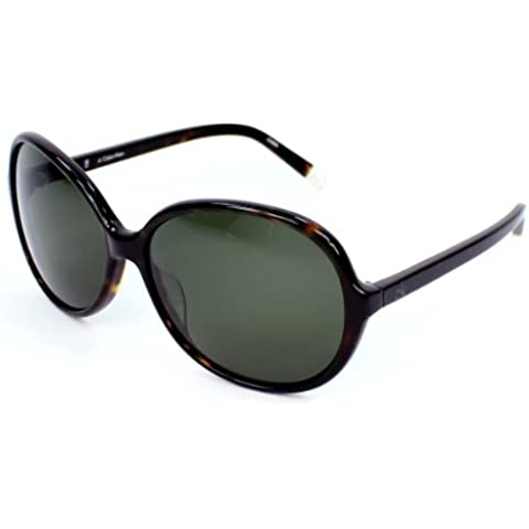 Calvin Klein Gafas de sol 4124 004 Dark Havana Grey Green