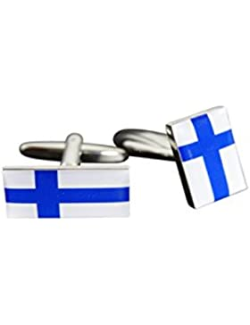 Flaggenfritze® Manschettenknöpfe Fahne / Flagge Finnland