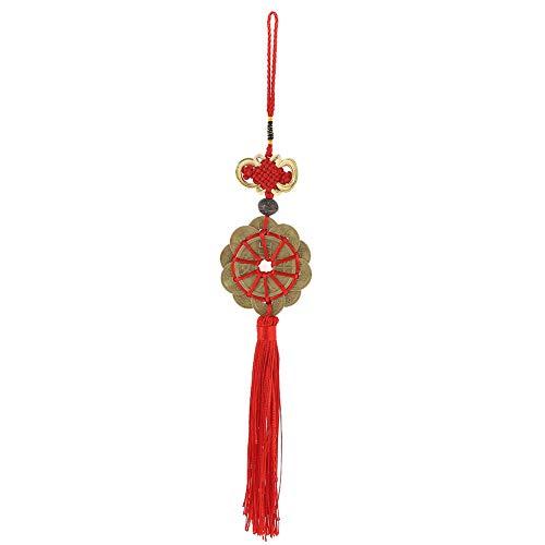 r Knoten Glücksbringer Antike Münzen China Maskottchen Retro Kupfer Rose Car Feng Shui ()