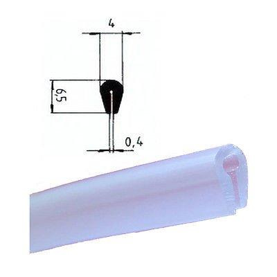 EUTRAS Kantenschutz KSO4004 Keder Schutzleiste – für Kanten 0,4 – 1,5 mm – transparent – 3 m