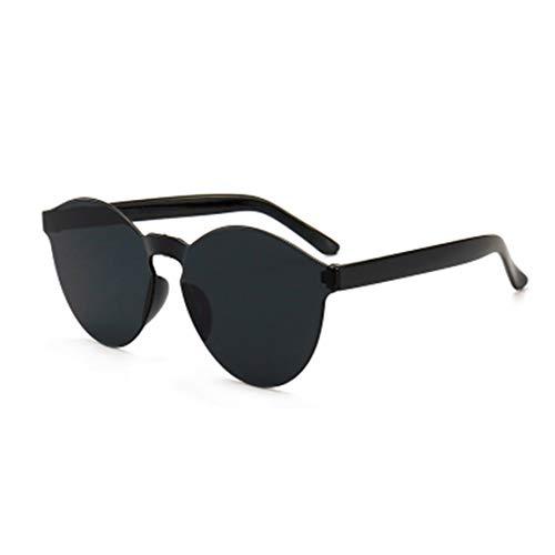 73JohnPol Transparenter rahmen frauen marke kreis bunte beschichtung sonnenbrille mode männer mode brille (farbe: schwarz grau)