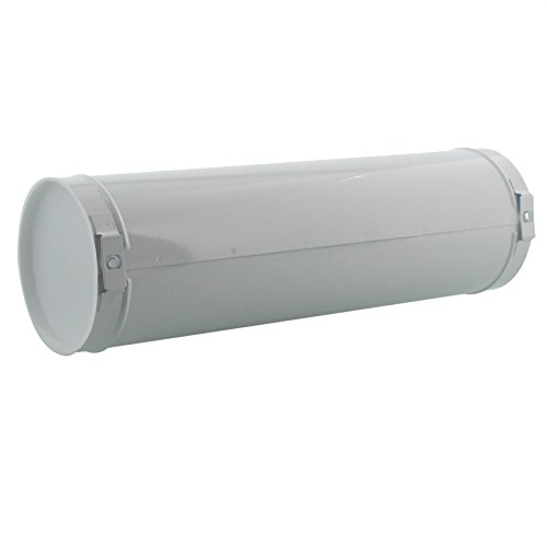 BURG-WÄCHTER Zeitungsrolle mit Kunststoffabdeckung, Briefkastenergänzung, Verzinkter Stahl, 800 W, Weiß - 2