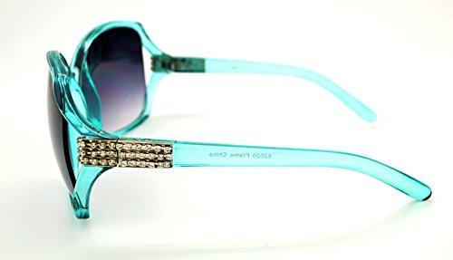 Vox tendance classique de haute qualité pour femme Hot Fashion Lunettes de soleil W/sans pochette en microfibre Teal Frame - Smoke Lens