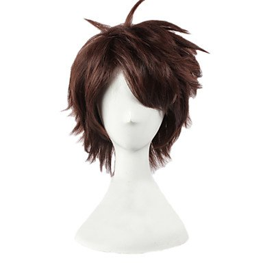 HJL-Oikawa Tooru couches court brun gar?ons Halloween Lolita Costume Cosplay Party cheveux perruques complet