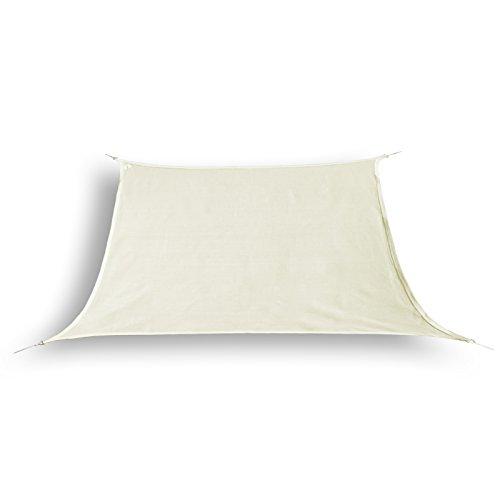 hanSe® Marken Sonnensegel Sonnenschutz Segel Trapez 3 / 4 x 3m, Farbe: Creme (Sonnenschutz Creme Beige)