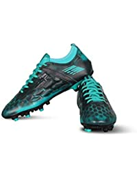 Vector X Flyer Football Shoes (Black-Sea Green)