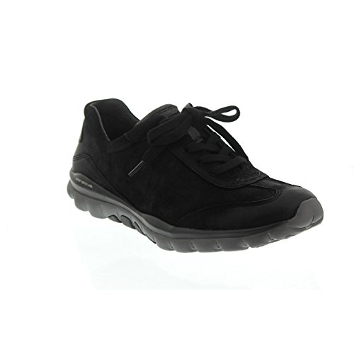 Gabor Shoes Rollingsoft, Scarpe Stringate Derby Donna Nero (Schwarz/anthrazit)
