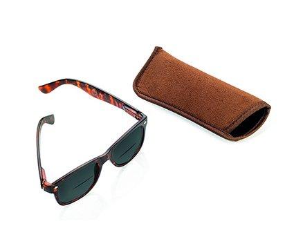 TROIKA SUN READER Lese-Sonnenbrille mit 2 Dioptrien - SUN20/BR - braun - Bifokal Lesesonnenbrille, Stärke +2,00 dpt, TÜV-geprüft, Polycarbonat, mit Etui, braun - das Original von TROIKA