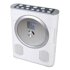 lecteur radio et cd mp3 etanche pour la douche blanc high tech. Black Bedroom Furniture Sets. Home Design Ideas