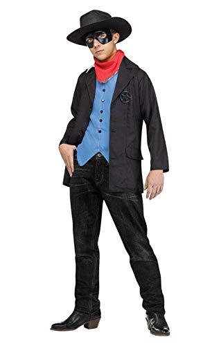 Kostüm Outlaw Cowboy - Horror-Shop Wildwest Rächer Kinderkostüm für Fasching, Karneval und Halloween S