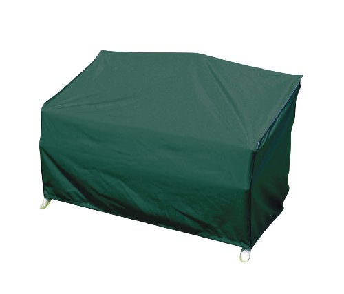 greemotion Schutzhülle für Gartenbank grün, winterfeste Gartenmöbelabdeckung, schmutzabweisende Regenschutzhülle, wasserabweisende Wetterschutz-Hülle, Wetterschutzhaube mit...