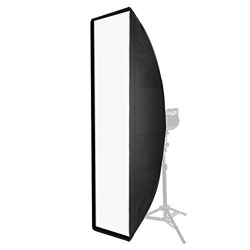 Neewer 14 x 63 Zoll / 35 x 160 Zentimeter Rechteckige Softbox mit Bowens Halterung Speedring, Soft Diffusor und Tasche für Speedlite Studio Blitz Monolight, Portrait und Produktfotografie -