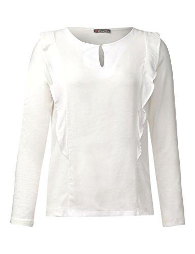 Street One Damen Langarmshirt Weiß (Off White 10108)