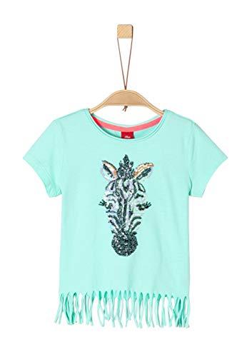 s.Oliver Mädchen 53.904.32.5635 T-Shirt, Türkis (Mint 6117), 92 (Herstellergröße: 92/98/REG) -