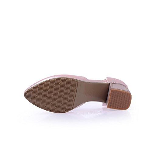 BalaMasa vuoto, da donna, con fibbia e punta arrotondata, con tacco basso, in gomma, motivo: scarpe Pink