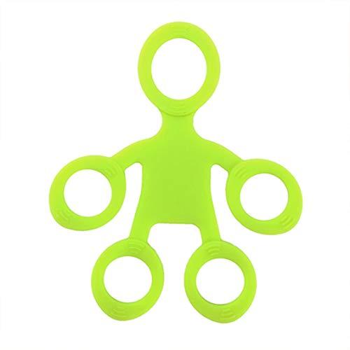 FancyswES8eety Tirador de Dedo de Silicona Nuevo Entrenador de Dedos Tirador de Cinco Dedos Equipo de Entrenamiento de Juguete de Fitness Bandas de Resistencia para los Dedos Ejercitadores