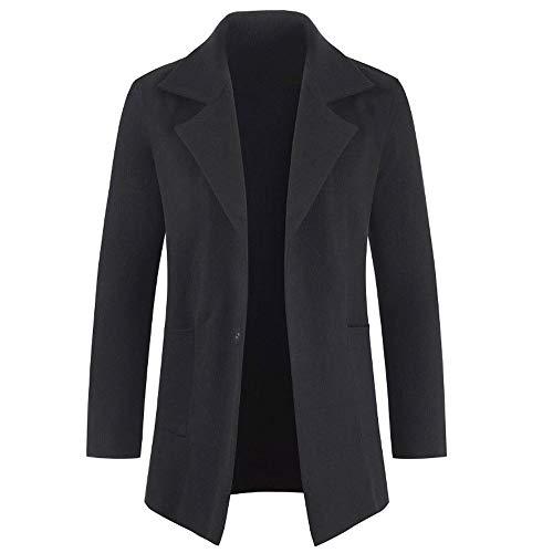 Giacca A Maniche Lunghe da Uomo in Autunno E Inverno Cappotto Lungo Tinta  Unita Business Moda f4c38406953