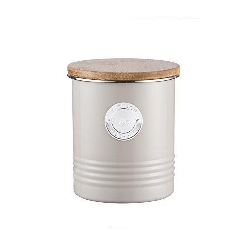 Vorratsdose 'Putty Coffee oder Tea' 1 L mit Holzdeckel Metall Aufbewahrungsdose Living Kaffeedose...