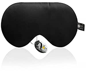 Friends of Meditation 100% Mulberry Silk, Super Smooth Sleep Mask and Blind Fold (Black)