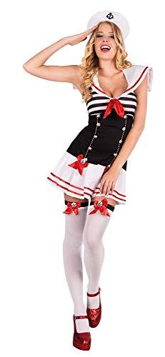 Damen Halloween Kostüm Letzte Minute - Boland 83613 - Erwachsenenkostüm Matrosin, Größe