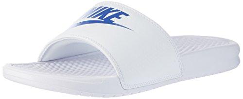 Nike Benassi Jdi, Ciabatte Uomo Bianco (White/varsity Royal/white)