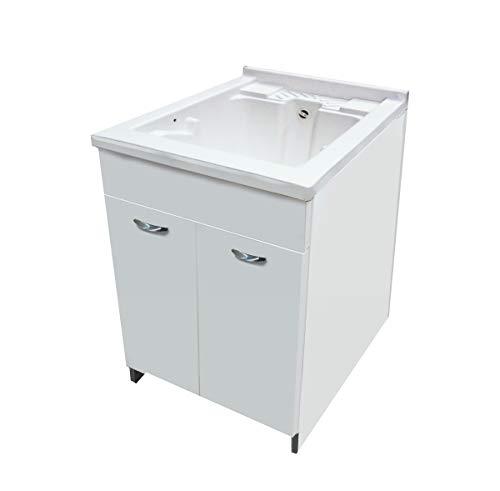 Mabel srl lavatoio lavapanni lavanderia mobile in legno vasca e tavoletta 60 cm