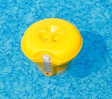 Bestway 58209 Doseur de chlore et brome flottant avec thermomètre intégré pour piscines et spas (Grande Galleggiante Termometro)