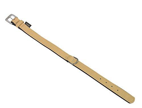 Beige Nappa-leder (Nobby Leder Halsband South, beige, Länge 37 cm; Breite 17/19 mm)